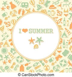 vector summer background,