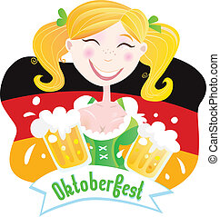 Oktoberfest Bavarian female - Oktoberfest girl in...