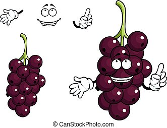 Cartoon currant berries