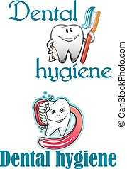 Dental hygiene logo and mascots