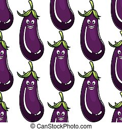 Seamless background pattern of a ripe eggplant - Seamless...