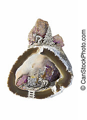 Gold Mining - Old gold mining operation in an agate geode