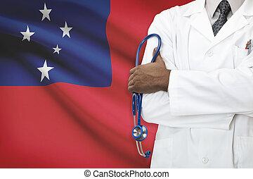 concetto, di, nazionale, sanità, sistema, -, Samoa,