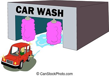 Car Wash - Customer leaves the car wash satisfied with the...