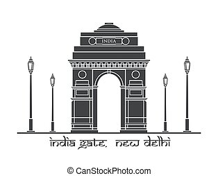 India Gate - An illustration of India Gate in New Delhi,...