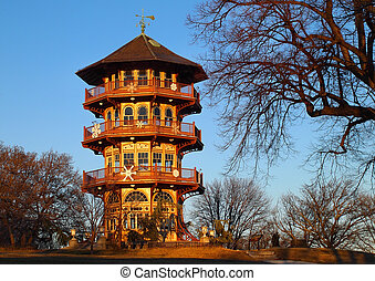 Patterson Park Pagoda - The Patterson Park Pagoda, on...