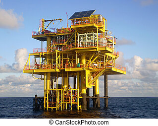 Offshore oil platform - An offshore drilling platform...