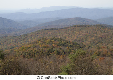 Colorful Mountain Wilderness - Scenic view overlooking the...