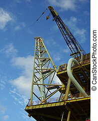 Lifting crane - An offshore drilling platform
