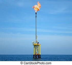 flaring - Flaring at an offshore platform