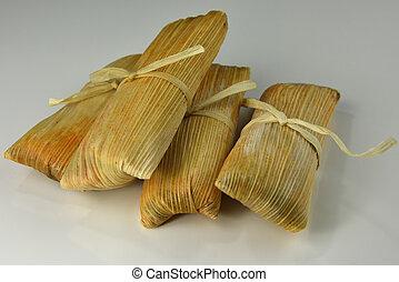Tamales, en, blanco, Plano de fondo,