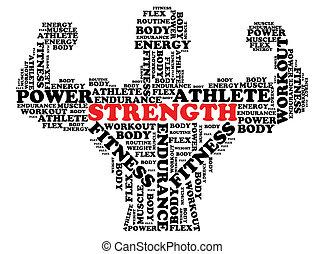 Bodybuilder Font Design - A bodybuilder flexing is designed...