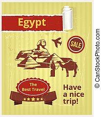 Egypt vector banner