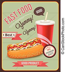 Vector fast food banner