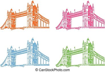 Vector tower bridge. London illustration