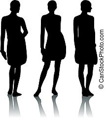 Silhouette woman - Silhouette girl