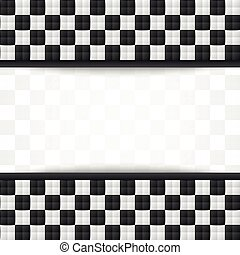 Chessboard document template - Three dimensional black and...