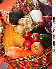 Root vegetables suitable for carving