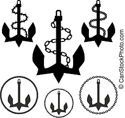 anchor set vector illustration image scalable to any size.