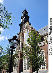 Westerkerk, Amsterdam - Tower of the historic Westerkerk...