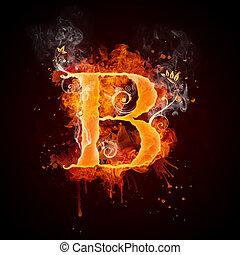 Fire Swirl Letter B