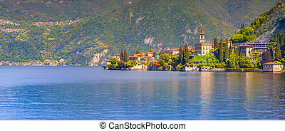 Panorama of the city Varenna, lake Como, Lombardy, Italy,...