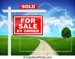 For Sale by Owner - Real Estate Sign – For Sale by Owner...