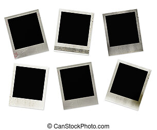 Polaroid frames - Set of 6 polaroid frames with grunge...