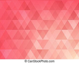 Abstract background of light red triangle
