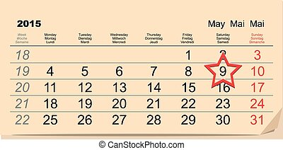 May 9 Victory Day. Calendar