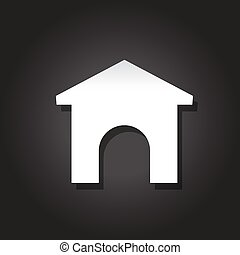 House icon with entrance. Vector icon