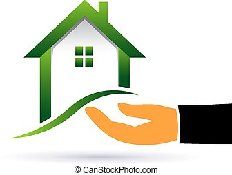 House buyer hand Logo