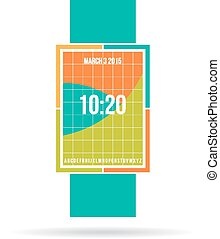 Smart watch contemporary color design