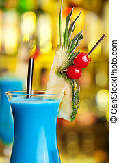 Cocktails Collection - Blue Hawaiian - Ingredients: 1 oz...