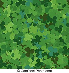 Seamless pattern with clovers