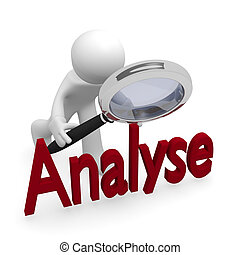 Analyse - Analyzing with a magnifying glass