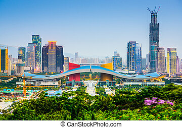 Shenzhen, China Skyline - Shenzhen, China city skyline in...