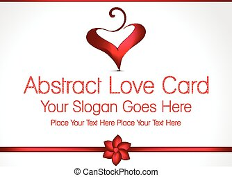 Abstract Love Card Design