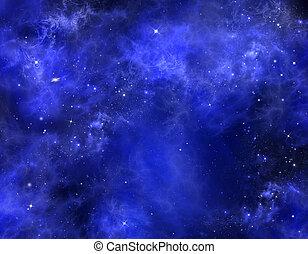starry night sky - night sky, blue background