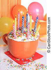蜡燭, 生日, 愉快,  Cupcake