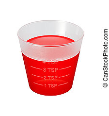 Cough Syrup Medicine Cup isolated over white background