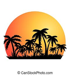 Summer holiday background.Tropical banner.vector