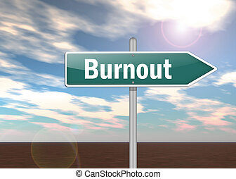 Signpost Burnout - Signpost with Burnout wording