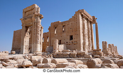 Temple of Bel in Palmyra. Syria - Ruins of the ancient city...