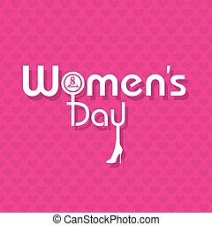 Womens day greeting card design vector illustration