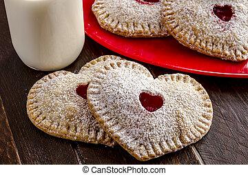 Heart Shaped Cherry Hand Pies - Heart shaped cherry hand...