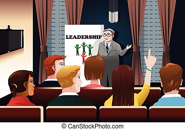 Business people in a seminar