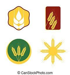 Wheat icon set