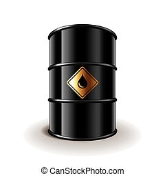 Oil barrel isolated on white vector - Oil barrel isolated on...