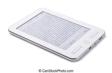 E-reader - E-book reader isolated on white